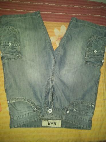 Muske teksas tricetvrt pantalone. L VEL  - Boljevac