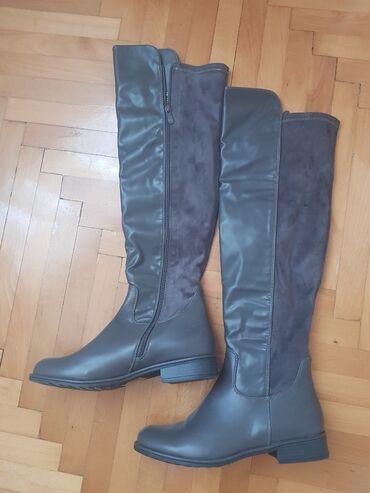 Zenske cizme - Srbija: Zenske cizme u sivoj boji,br 41