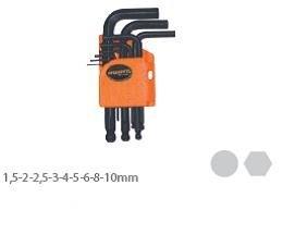 Наборы инструментов в Кыргызстан: Набор шестигранных торцевых ключей (9 шт)AL101 короткий - 170 сом