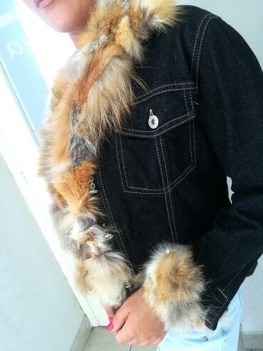Prelepa teksas jakna sa prirodnim krznom vel S M