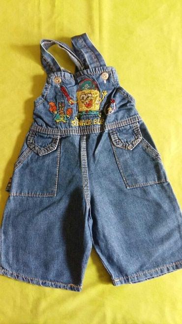 Kratke pantalone na tregere od teksasa za bebe vel.6-12m,polovne i - Petrovac na Mlavi