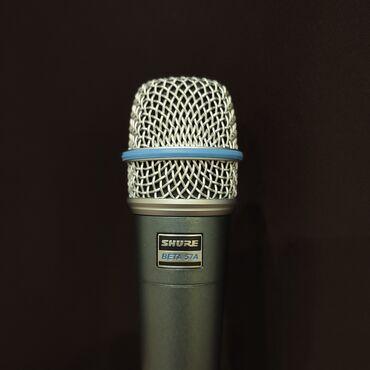 studiya - Azərbaycan: İnstrumental mikrofonShure Beta 57ATezliyə cavab, Hz: 50-16000Kabelsiz