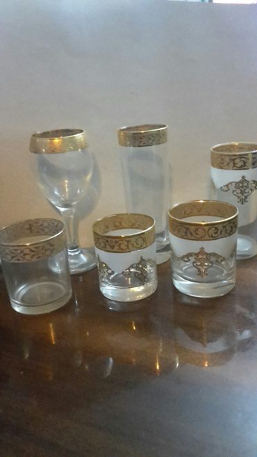 Ostalo za kuću | Nis: Kristalne case sa pozlatom vise modela masinski kristal kompleti od 6