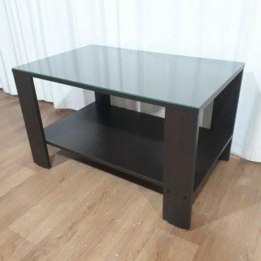 Мебель - Кыргызстан: Столик со стеклянной поверхностью 80х50Журнальный столикСтол