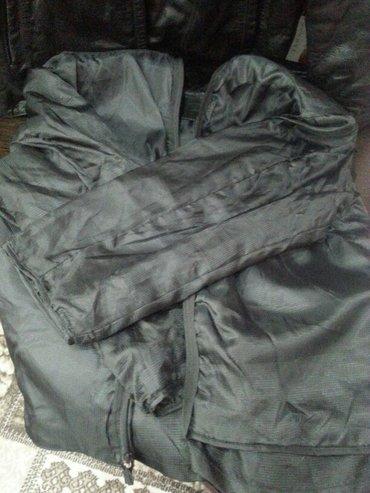 Кожаная мужская куртка, с подкладом, который отстегивается, размер 3xl в Кант