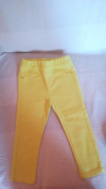 Pantalone zute - Srbija: Decije zute pantalone, lc waikiki 18-24m(86/92cm) nosene par puta