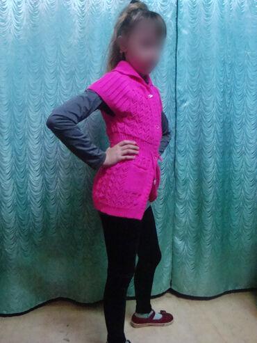 вязанный жакет в Кыргызстан: ПРОДАЮ ПЛАТЬЕ-НАКИДКУ на девочку ( от 4-8