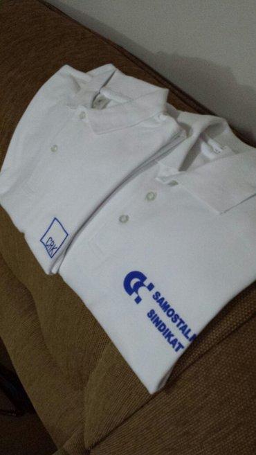 Muška odeća | Velika Plana: Nove bele muške majce, odličnog kvaliteta, sa kragnicom, veličina xl