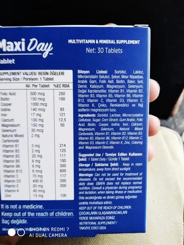 Vitaminlər və BAƏ - Biləsuvar: Orginal sertofokatli,barkodlu Sehiyye Nazirliyi terefinden tesdiq