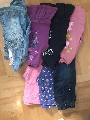 Parka rukavi - Srbija: Paket odeće za dete od 9/12 mes ili br.74 ( Teksas jakna,3 duga rukava