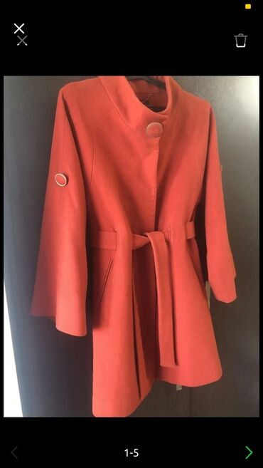 женское пальто в Кыргызстан: Пальто женское, брала в Дубаи за 10500, одето 3 раза, размер до 44