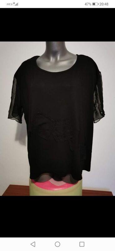 Ženske majice - Srbija: Crna majica, mere na slici