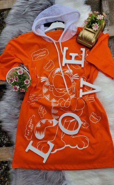 Garfild tunike narandzasta vel L  Zuta vel M siri model cena 1000 din