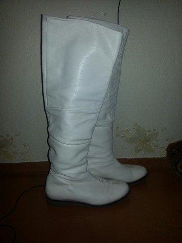 Сапоги кожаные зима 38р... высокие по колено, очень теплые, шикарное к в Сокулук