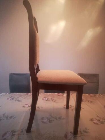 стол и стулья для гостиной в Кыргызстан: Продаю стол мести стульями связи с выездом Россию на ПМЖ брали очень д