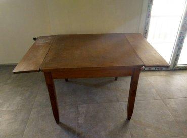 τραπέζι παλαιό , το οποίο ανοίγει με έξτρα πλαϊνά , ιδανικό για αναπαλ σε Υπόλοιπο Πειραιά - εικόνες 2