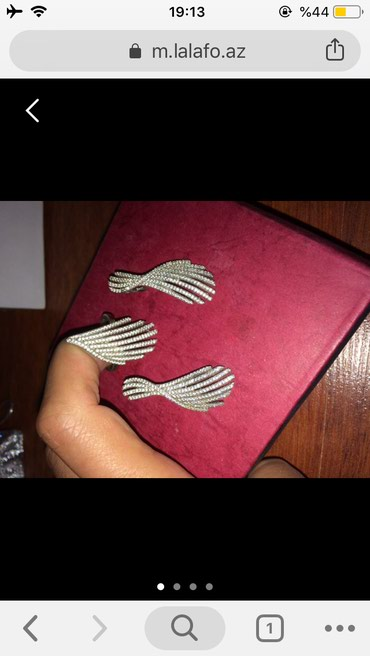 Svaroviski qawlardan ibaret komplekt sep sirga uzuk desti satilir cox