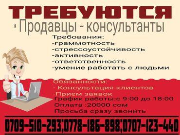 ипар косметика в Кыргызстан: Менеджер по продажам. С опытом. 5/2