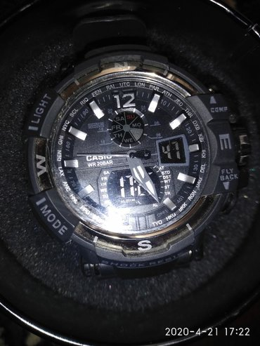 chasy g shock kachestvennaja replika в Кыргызстан: Черные Мужские Наручные часы Casio