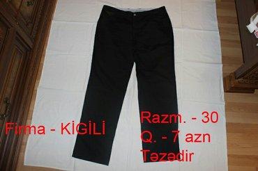 Bakı şəhərində Təzədir, kişi şalvarı,30 razmer,7 azn. Kİgİlİ firması