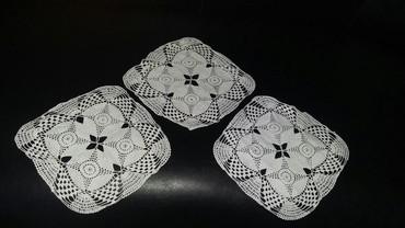 Kućni dekor - Bogatic: Tri prelepa heklana manja miljeta