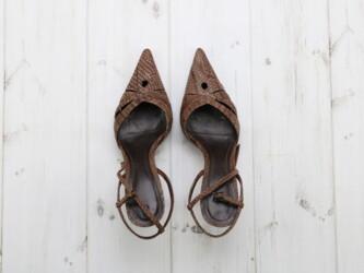 Женские туфли под змеиный принт Cuir, р. 36 Каблук: 9 см По стельке ок