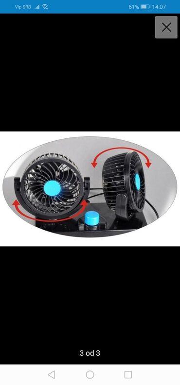Auto prikolice - Srbija: Ventilator za auto kamion kombi 12vDupli ventilator za automobil