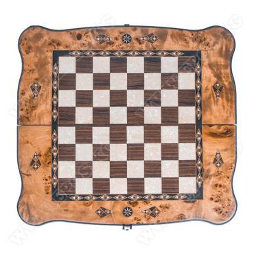 Шахматы в Кыргызстан: Шахматы Helena Wood Art ручной работы выполнены в восточном стиле из
