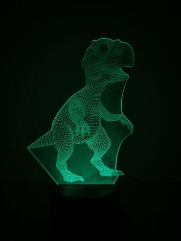 ХИТ ПРОДАЖ*3D Светильник меняющая в виде Динозавра*Отличный подарок