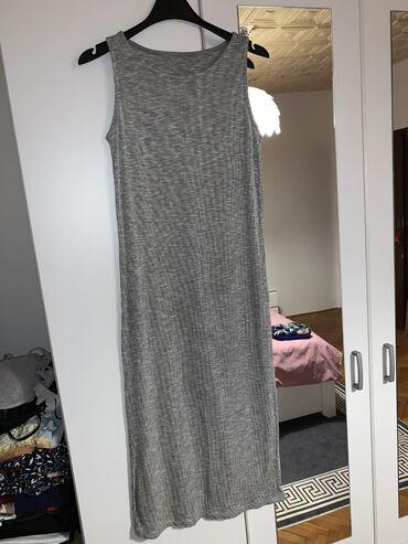 Haljine - Paracin: Rebrasti pamuk haljina midi, velicina M, moze i za s