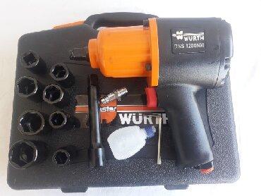 Pneumatski pistolj WURTH 1200Nm NOVO, U koferu sa gedorama kao na