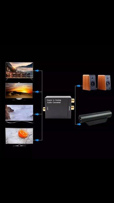 Audio optic ses çevirici digitaldan analog ses ötürücü muasir в Bakı