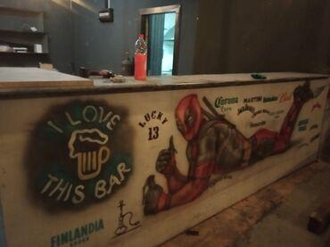 барная стойка в Кыргызстан: Продаю барную стойку. Бар в кафе, клуб, бильярд