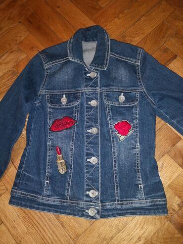 Za devojcice texas jakna velicina 8-9 rukav 55 cm, duzina jakne 47 cm