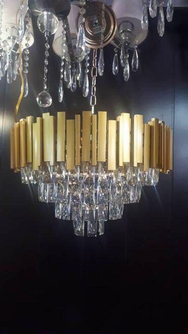 Люстра в стиле арт_деко диаметр 55см количество лампочек 12 качество