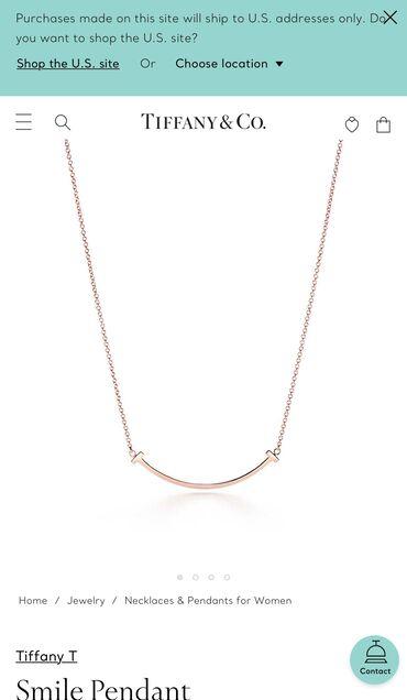 Tiffany&Co smile pendant rose gold, original, Tiffany butikdan