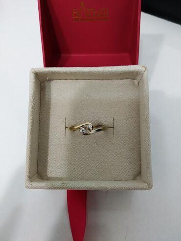 Бриллиант печатка - Кыргызстан: Золото, кольцо с бриллиантами 585 пробы жёлтое золото и белое золото