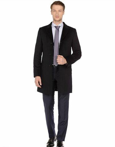 Новое чёрное пальто (кашемир)56 размерЗастегивается на три