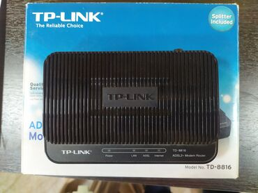 adsl-modem - Azərbaycan: Tp-lin TD-8816 adsl modem (splittersiz).təzədir, istifadə olunmayıb
