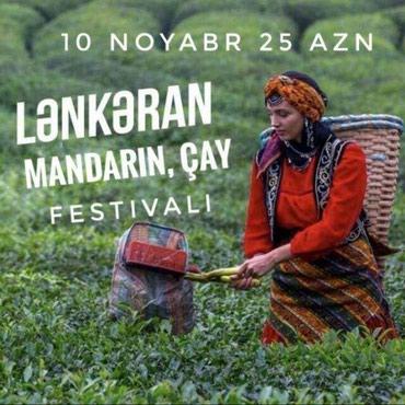 Bakı şəhərində Lənkəran Mandarin Çay festivalı 10 Noyabr 25 AzN