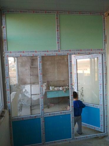 plastik qapi pencere - Azərbaycan: Pəncərələr, Ağcaqanad torları, Arakəsmələr   Kredit, Pulsuz çatdırılma, Pulsuz quraşdırılma