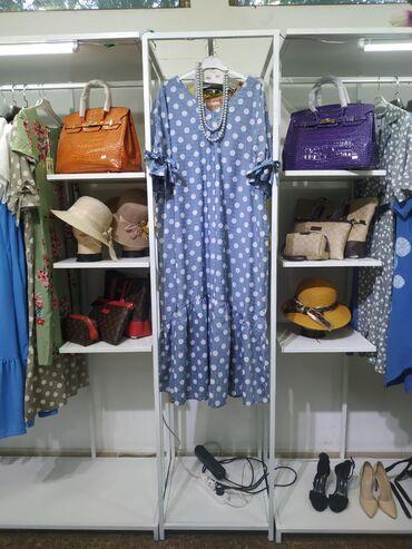 Платье в горошек  Размеры 50 52 54 56  В двух расцветках  Тепнь Лен пр