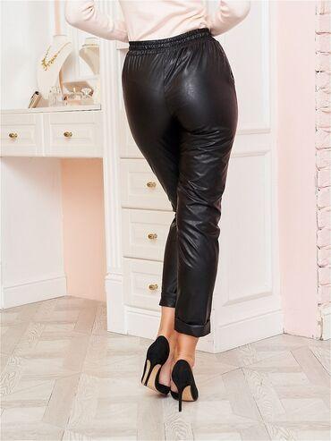 Кожаные брюки XL утеплённые, имеются карманы с переди, новые