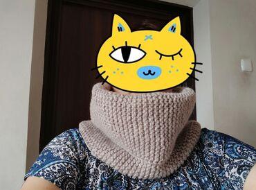 вязаные платья на лето в Кыргызстан: Шарф снуд вязаный. Ручная вязка. Пряжа полушерсть, производство