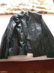 Crna muska kozna jakna od ovce lakirane koze. Jakna je iz turske - Pirot