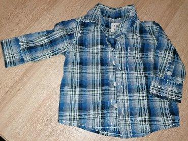 Amisu karirane bermude - Srbija: Moderna karirana košulja za dečaka, OLD NAVY, za uzrast 6-12 meseci
