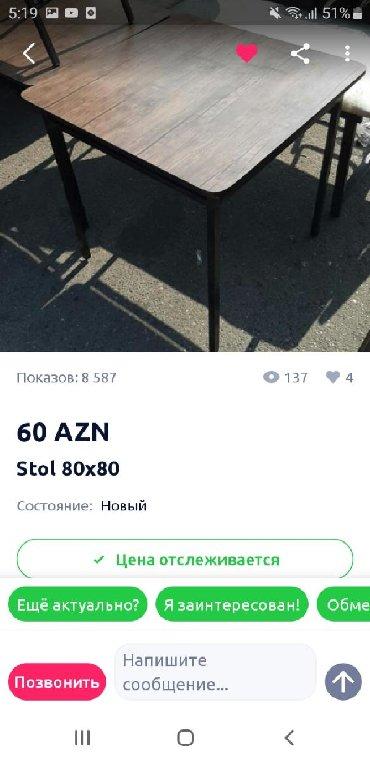 стол трюмо в Азербайджан: НЕРАСКЛАДНОЙ СТОЛ ДЛЯ КУХНИ