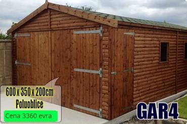 Garaže - Srbija: Montazne garaže model GAR4 - 6mx3.5m - poluoblice