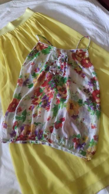 Duga leprsava haljina - Kraljevo: Potruno novo.Zuta duga suknja i majica.Slikala sam ponovo jer nisu