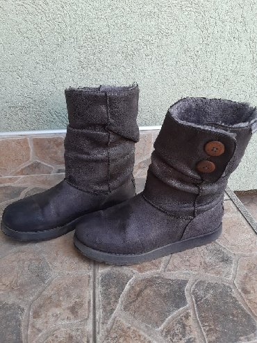 Ženska obuća   Pozarevac: Tople čizme sive boje, broj 38 Jako su udobne